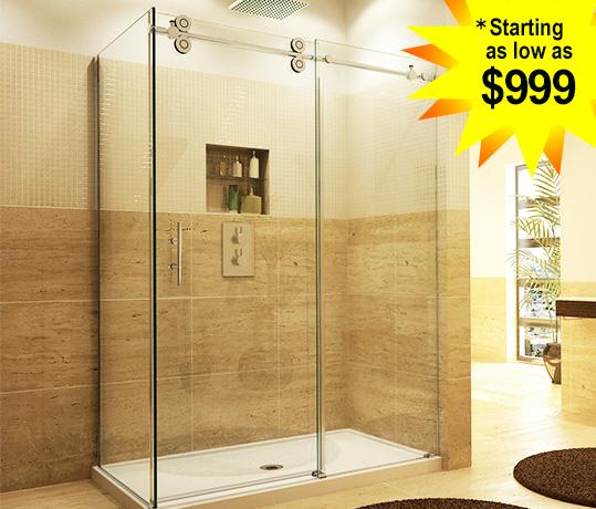The original frameless shower doors americas only direct from olexis single slider planetlyrics Gallery